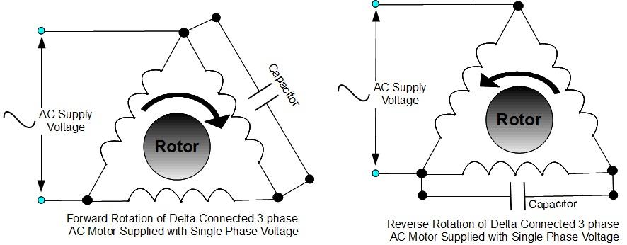 Koppla om enfaskopplad trefasmotor? • Maskinisten