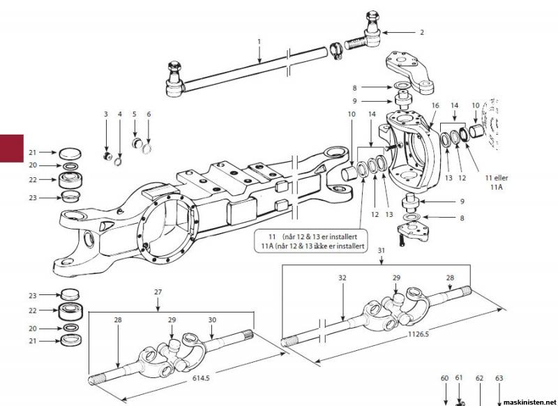 MF175 4wd-konvertering • Maskinisten