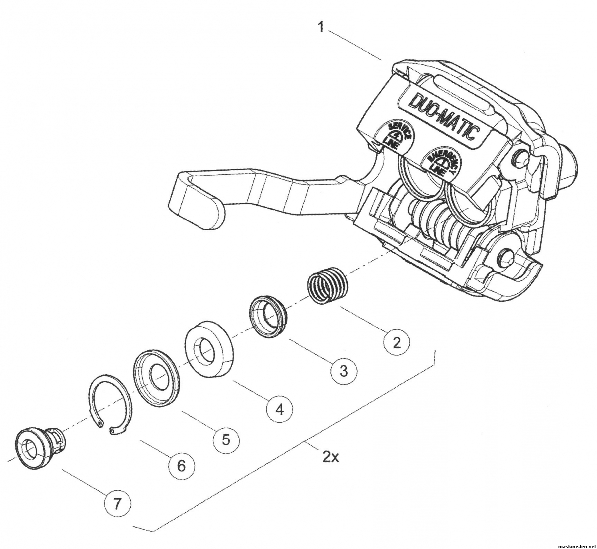 Tryckluftsbromssystem på tunga släpvagnar • Maskinisten