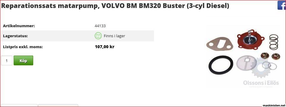 Problem med matarpump på BM320 • Maskinisten