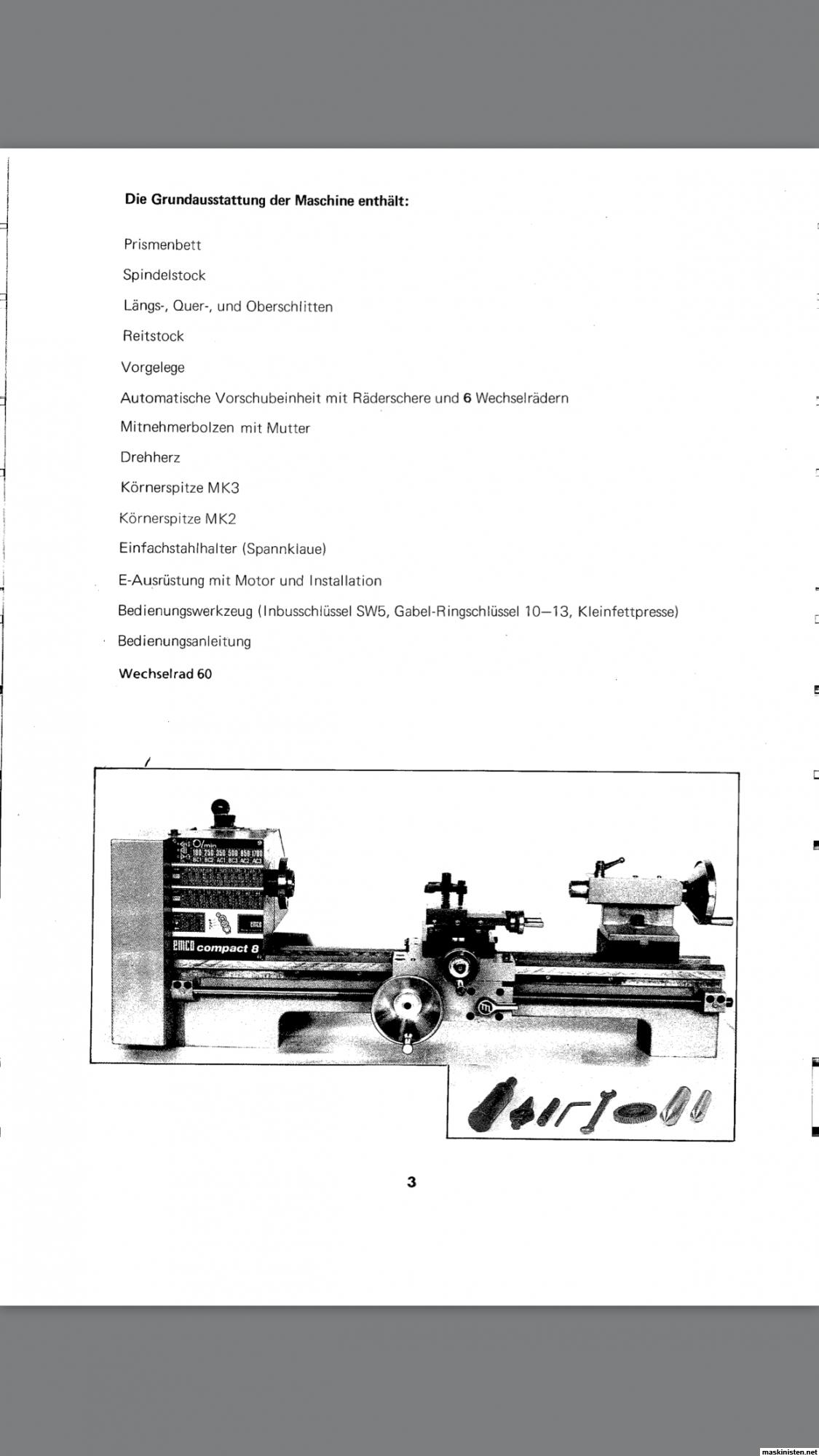 Emco Compact 8 svarv • Maskinisten