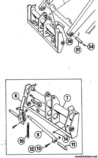 Fäste i frontlastare Ålö typ 3 • Maskinisten