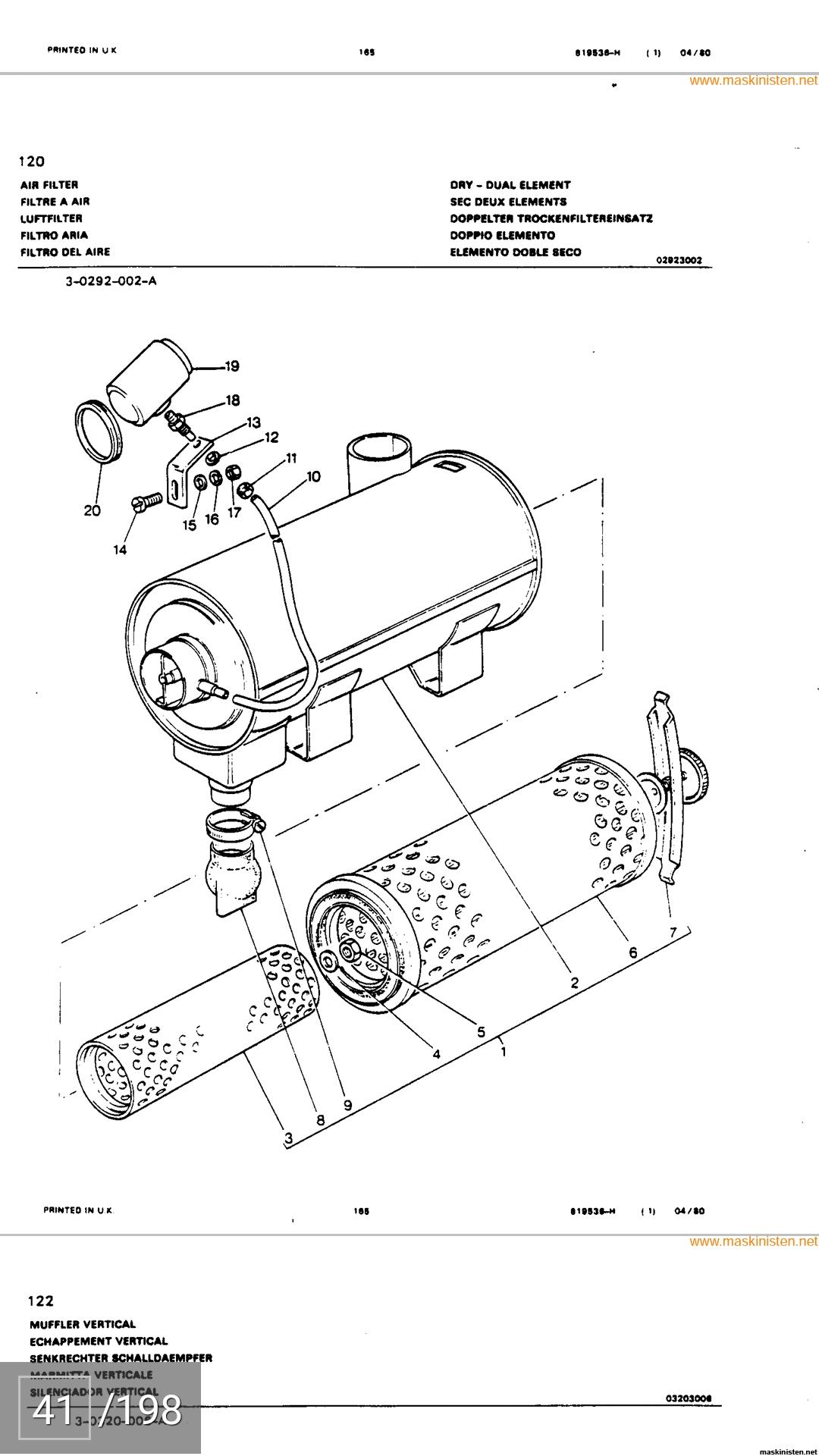 MF 165 utan luftfilter • Maskinisten