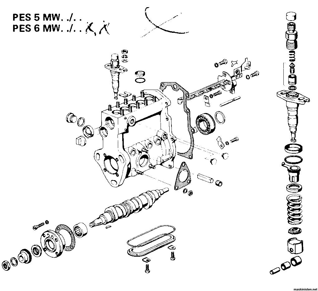 Volvo 6300 insprutningspump • Maskinisten