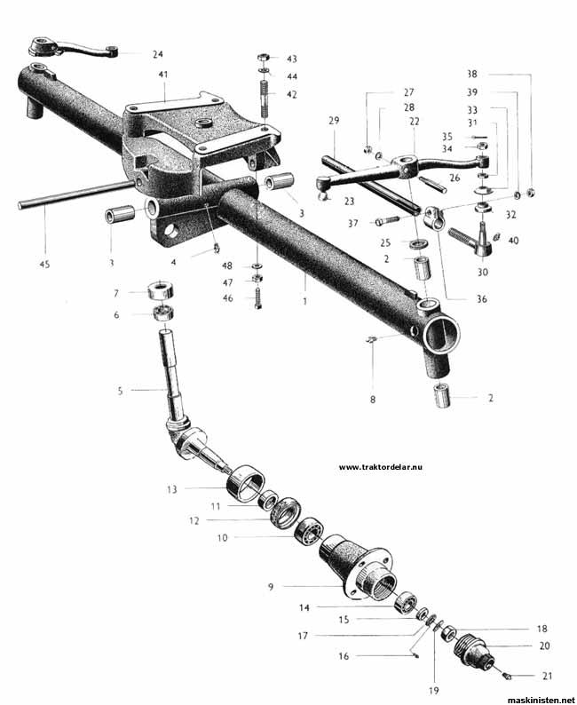 Framaxel delar bm 230 victor • Maskinisten