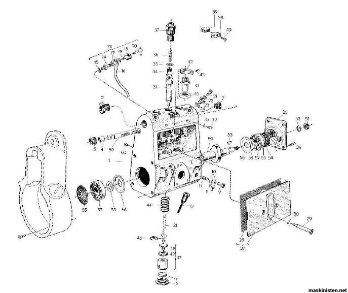 Läckage Bosch dieselpump BM 1113 • Maskinisten