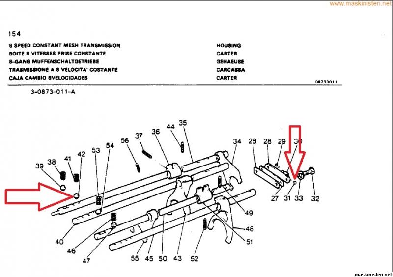 MF 165- Problem med drivningen • Maskinisten