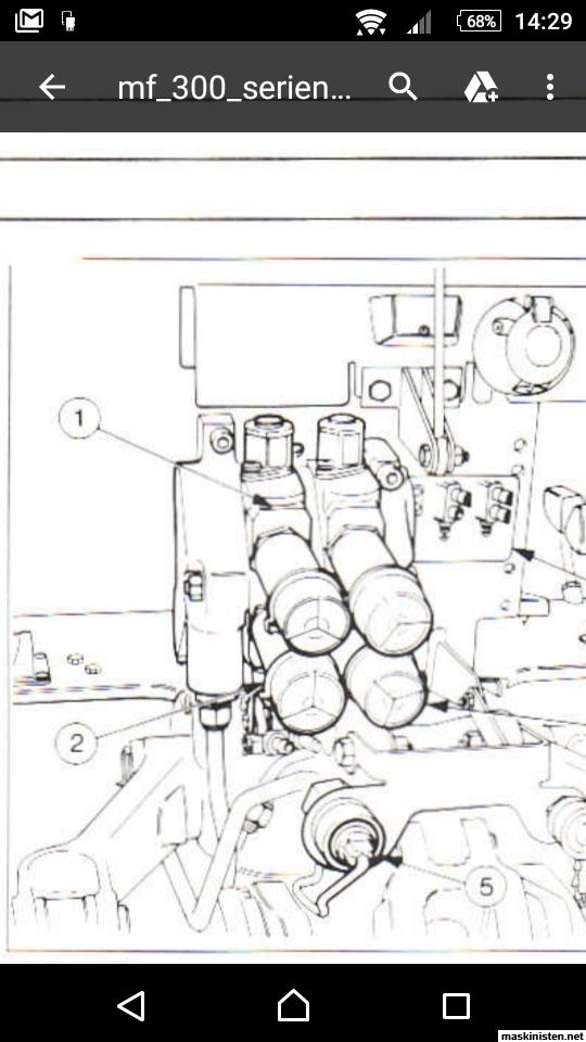 Hydraulik MF365 • Maskinisten