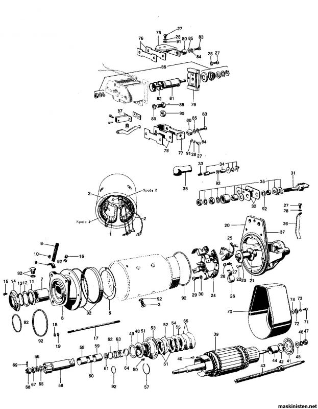 Startmotorstrul (solenoid) • Maskinisten