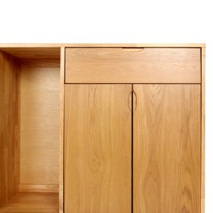 mason natural oak solid wood sideboard