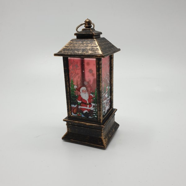 Bronze Santa Lantern Holder by Masons Home Decor