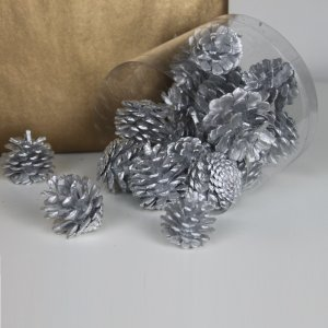 Mini Pine Cone Silver by Masons Home Decor Singapore (1)