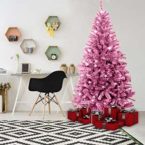 pink christmas tree by masons home decor (5)