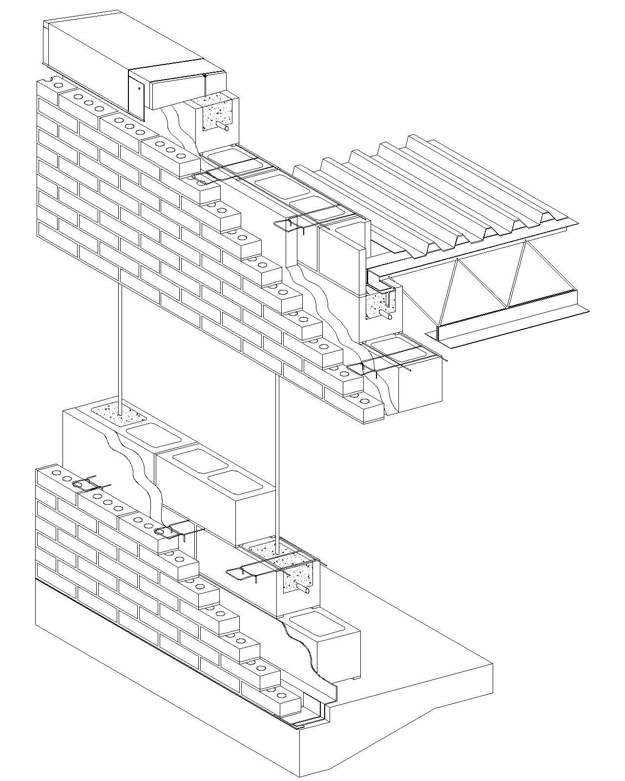Cavity Wall: Brick Veneer/Reinforced Concrete Block