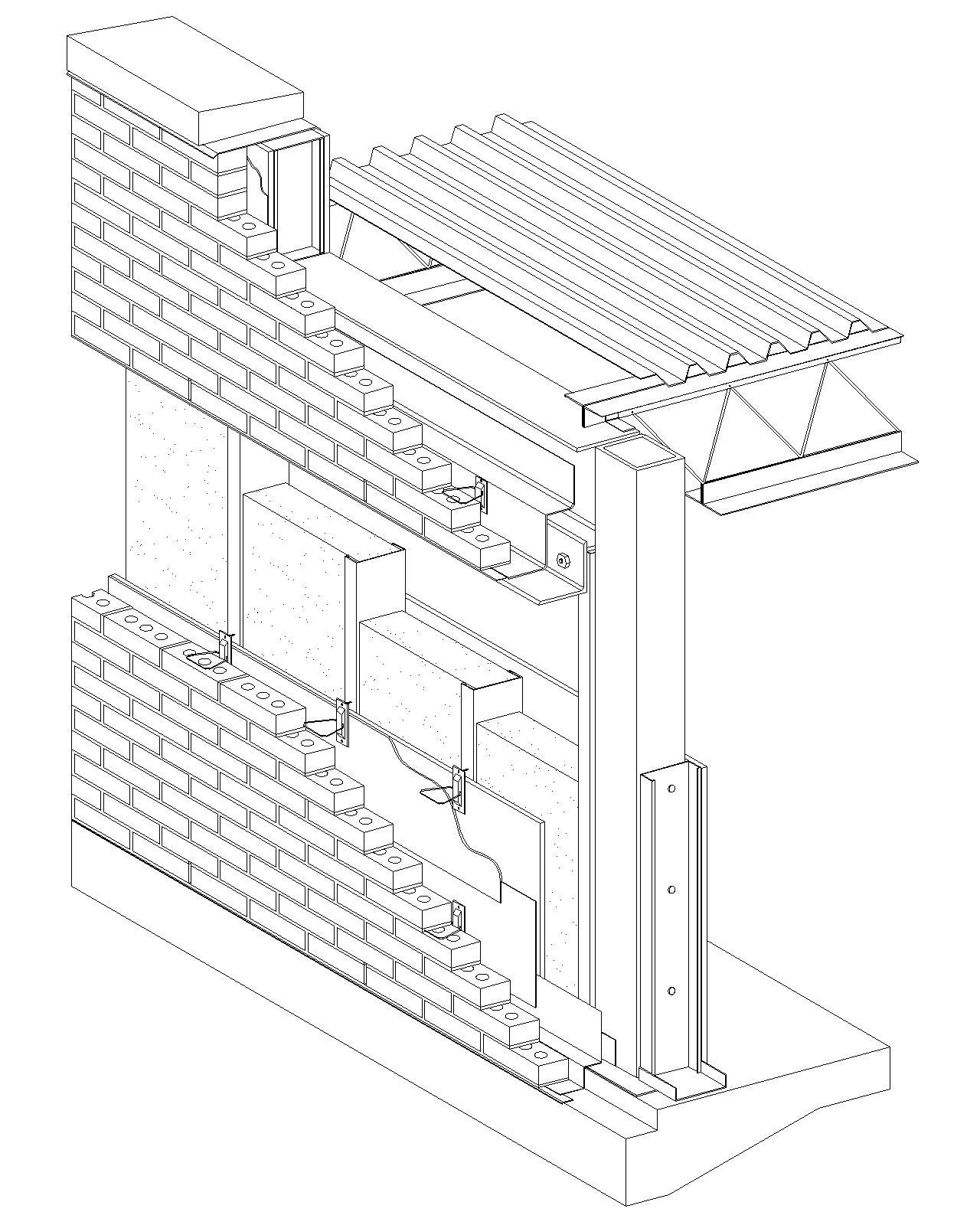 Cavity Wall: Brick Veneer/Steel Stud