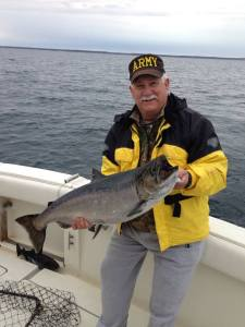 Phil Keilman with the winning king he caught.