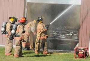 grant pole barn fire ludington manistee news 2