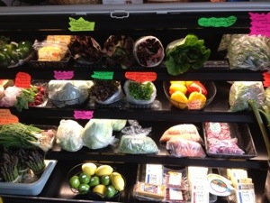 Organic produce grown in Mason County.