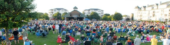 Thousands attended last year's beach party concert.