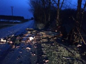 Damage on West Hawley Road.
