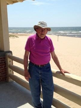 Bob Sasin at the Ludington State Park beach house.