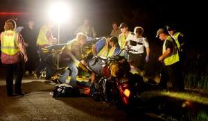 Seen of a June motorcycle/deer crash on U.S. 31.