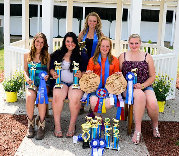 Level 3. From left: Lexi Hammerle, Meghan Winey, Katie Knoll, Savannah Slikkers, Anya Laraway.