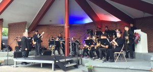 MCC Jazz Band performing Friday at the Mason County Allied Veterans Vietnam Wall Project.