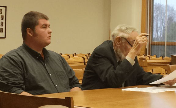 Codie Lee Fink, left, with his attorney Norman White.