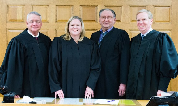 From left: Judges Wadel, Sniegowski, Cooper and Nellis.