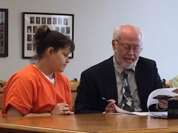 Melinda VanDerZanden with her attorney, Douglas Stevenson.
