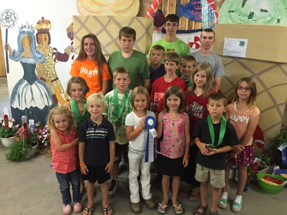 First place booth: Weldon Creek 4-H Club.