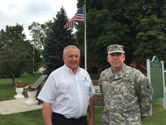 Rep. Ray Franz (R-Onekama) and Brigadier General Michael Stone.