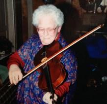 Margaret on the viola