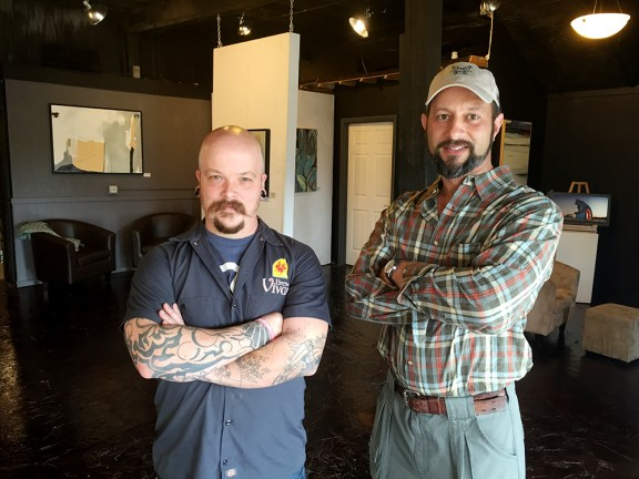 Andrew Thomas, left, and Jason Miney.