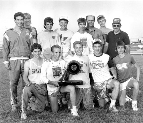 MCC 1986 boys track team.