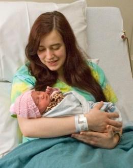 Cheyenne Wilson holds baby Audree.