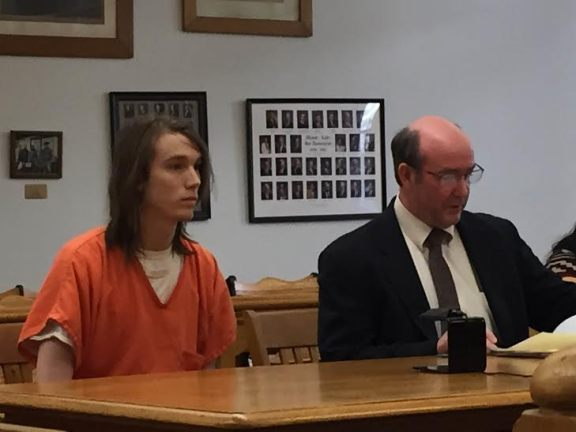 William Dwyer with his attorney, Patrick Fragel.