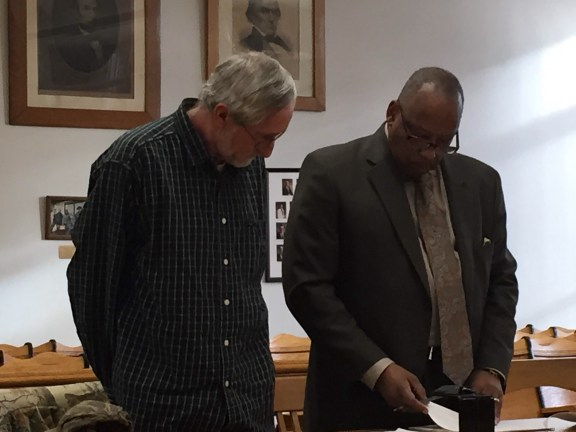 Thomas Tribble, at left, with his attorney, John Beason.