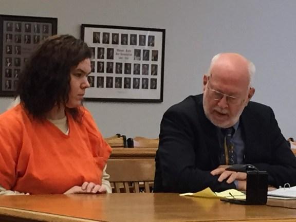 Andrea Benet King with her attorney, Douglas Stevenson.