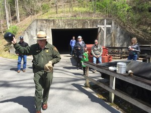 A National Forest Service ranger talks about the Blue Heron Mine.