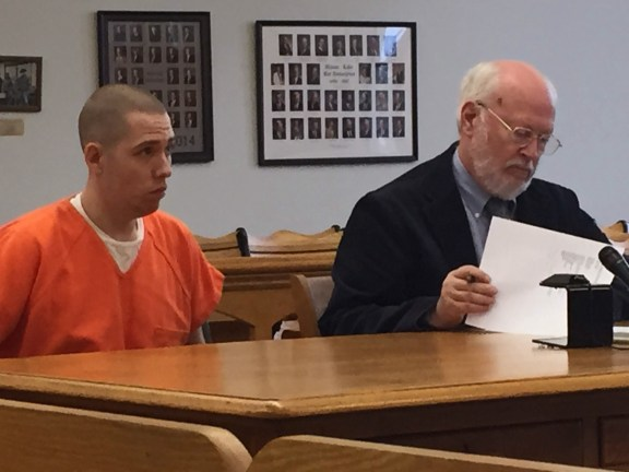 Jared Walkley with his attorney, Douglas Stevenson.