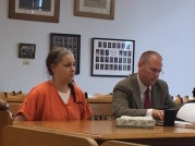 Jennifer Nickleson with her attorney, David Glancy.