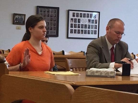 Cara Monton with her attorney, David Glancy.