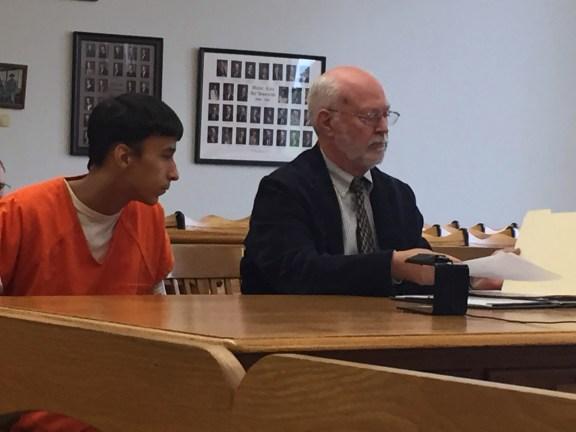 Miguel Garcia with his attorney, Douglas Stevenson.