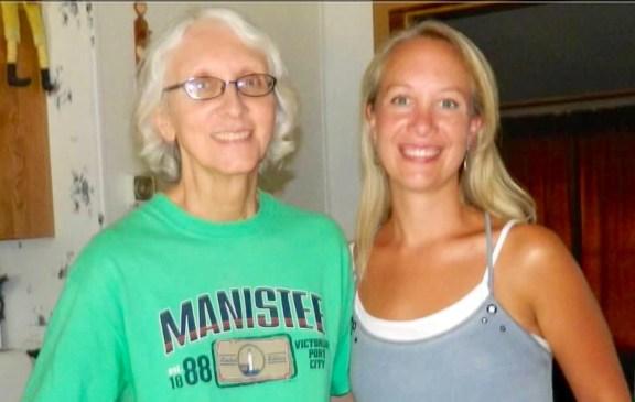 Mary Olson, right, with her mother, Jennifer Osmolski.