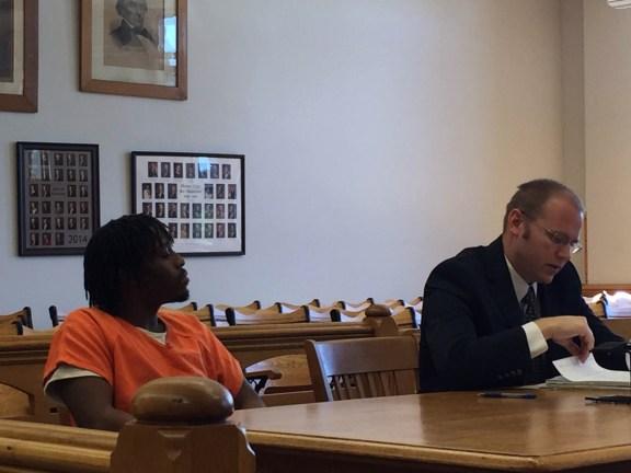 Jonathon Soloman-Jones with his attorney David Glancy.