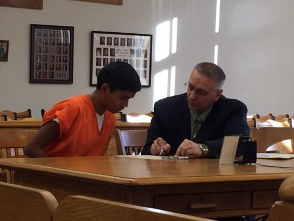 Ramirez with his attorney Al Swanson, Jr.