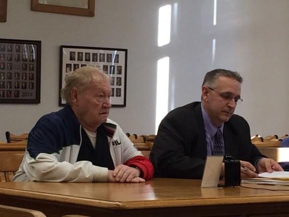 Albert Padgett with his attorney, Al Swanson, Jr.
