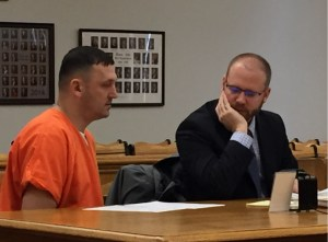 Louis Metheny in circuit court last week with his attorney, David Glancy.